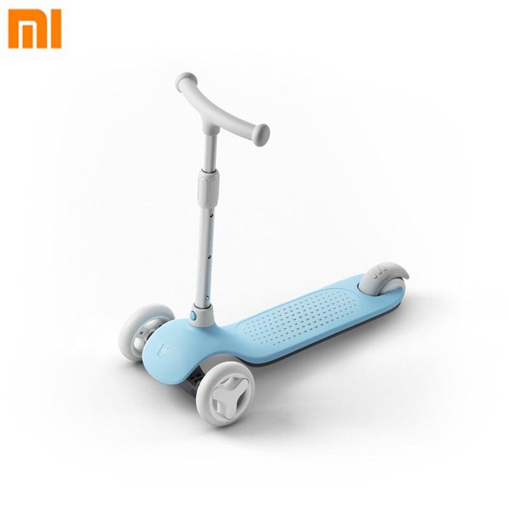 Xiaomi Mijia enfants coup de pied Scooter échelle vélo bébé marcheur réglable Portable hauteur pour enfants 3-6 ans