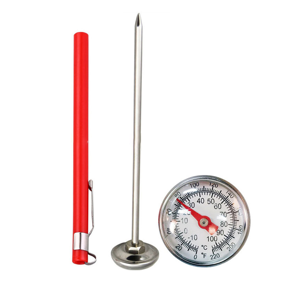 127mm Lightweight Compost Soil Kitchen Tools Celsius Measure Stainless Steel Thermometer Garden Dial Display Multifunction Milk