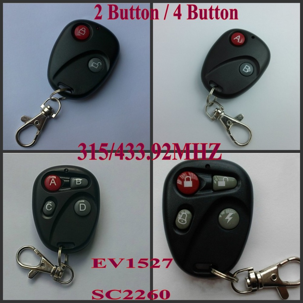 ask big promotion shop for promotional ask big on aliexpress com rf remote control 2 button 4 button ab lock unlock abcd bell lighting radio transmitter ask 1527 2260 learning fixed code315 433