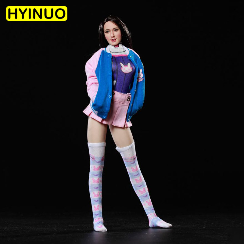1/6 Scale COSPLAY <font><b>Sexy</b></font> Female E-sports Student Suit Women Sports Casual Wear Clothes Clothing Set For12