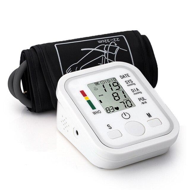 Parte superiore del Braccio di Pressione Sanguigna Monitor Portatile Tonometro Salute e Bellezza BP Sfigmomanometro Digitale di Battimento di Cuore Meter Macchina