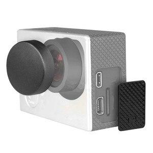 Image 5 - Capa lente 4 em 1 para gopro hero, cobertura de lente + tampa da lente + porta de substituição + capa de porta lateral 4/3 + câmera