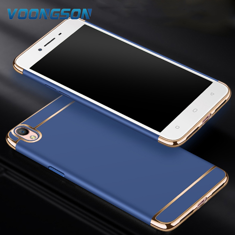 3 In 1 Hard PC Back Cover Case For OPPO A37 Case 360 Degree Protection Anti-Knock Ultra Thin Slim Case For OPPO A 37 Case Luxury