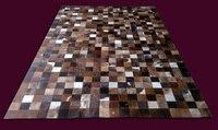 Fashionable art carpet 100% natural genuine cowhide leather 3d carpet