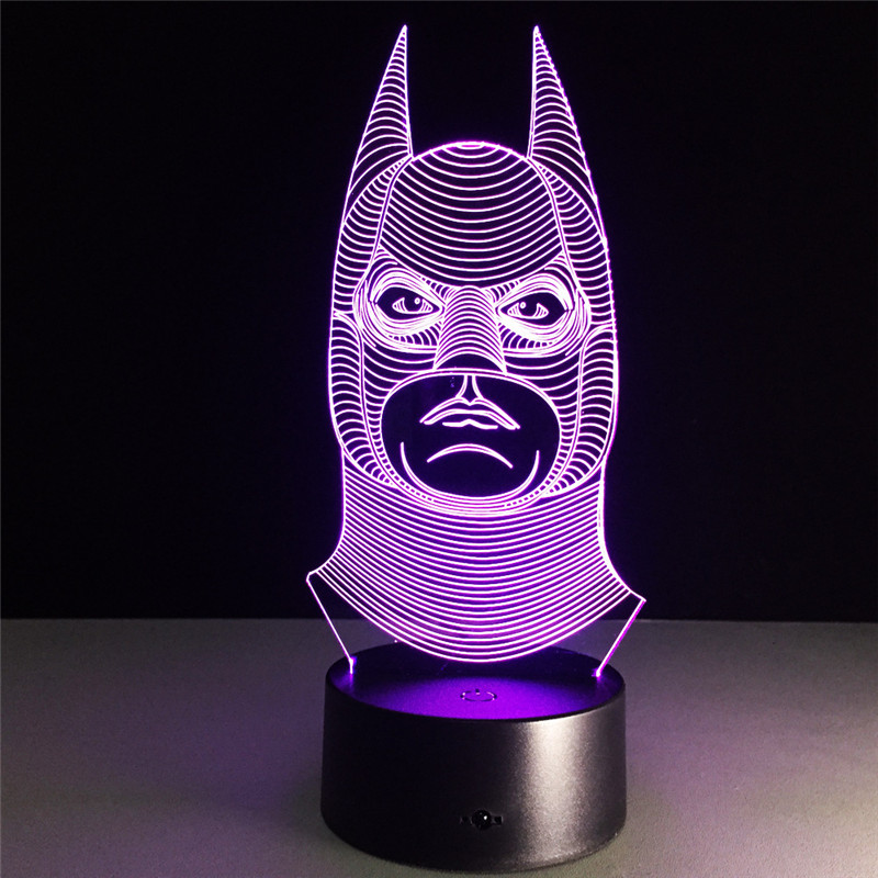 Avengers:Infinity War Batman Dark Knight Bruce Wayne DC Comics Robin 3D With LED Light Action Figure Night Lamp Model Toy L1141