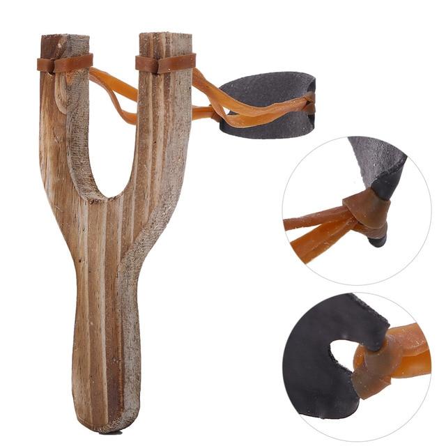 Мощная охотничья Рогатка Резиновая лента деревянная профессиональная тактика пластиковый Карманный слинг шарик для подбрасывания Открытый Охота Рогатка инструмент