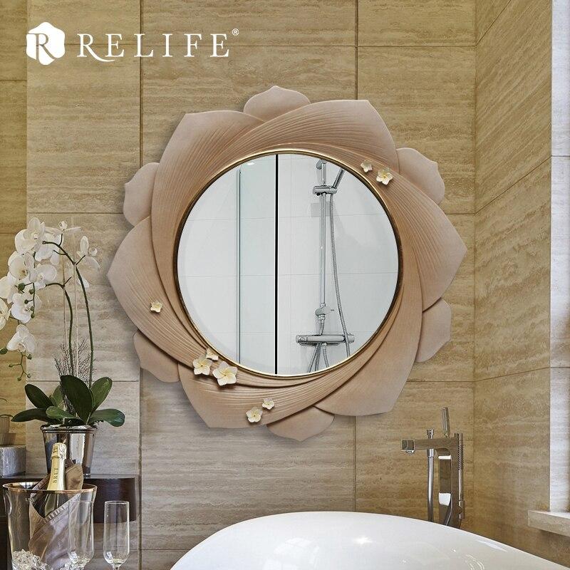 Promotionnel Mur Miroir Design Moderne Acrylique Fleur Décoratif Grand Miroirs Décor À La Maison