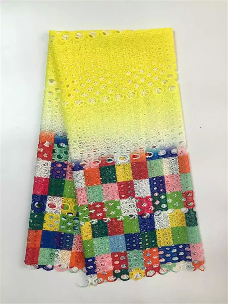 Free Shipping new arrival african lace fabrics high quality multi color cord lace guipure lace fabric