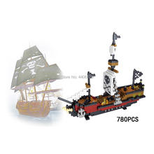 hot LegoINGlys creators Pirate Of The Caribbean Ship Black Pearl Micro Diamond Building Blocks model Nanoblock bricks toys gift цена