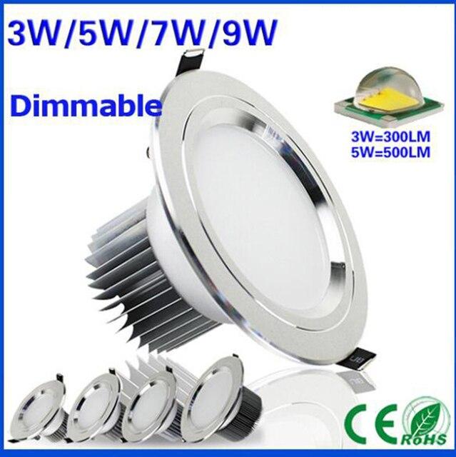 Kısılabilir 3 w 5 w 7 w 9 w Anti sis led downlight Cree LED tavan lambaları Gömme Spot ışık Aşağı Işıkları ev aydınlatma için