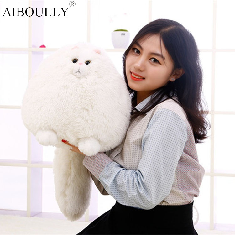 Fun Fat Pet Cats Persian Cat Toys Pembroke Pillow Plush Toys Soft Stuffed Animal Plush Dolls Simulation Peluches Gifts Kids cute siamese cat plush doll toys simulation stuffed animal kids toys cats dolls gifts female