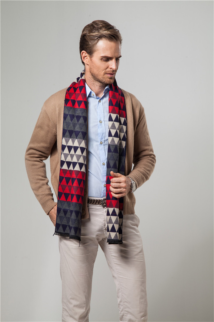 Men   Scarf   Winter Autumn Man   Scarves     Wrap   Shawl Thick Men's   Scarf   Warm Cotton Cashmere Wool Blended Knit Brushed   Scarf