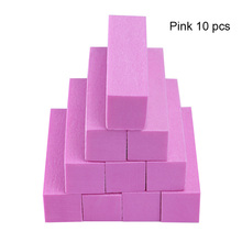 Polishing Nail-File-Block Green Nail-Buffer Uv-Gel Pink White Form 10PCS Sanding-Sponge
