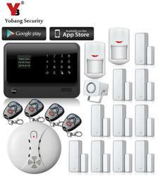 Yobang bezpieczeństwa GPRS SMS Alarmas Gsm Casa bezprzewodowy w domu GSM systemy alarmowe bezpieczeństwa bezpieczeństwa pilot zdalnego sterowania inteligentnego domu czujnik dymu