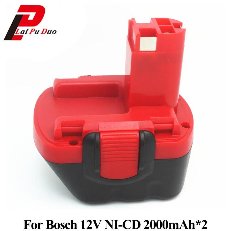 2 pièces 12 V 2.0AH Batterie De Remplacement Pour BOSCH GSR 12 V GSR 12 V AHS GSB GSR PSR 12 12VE BAT043 BAT045 BAT046 BAT049 BAT120 BAT139