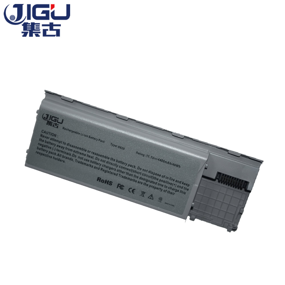 JIGU 11.1 V batterie d'ordinateur portable JD775 JY366 KD489 KD491 KD492 KD494 KD495 NT379 PC764 PC765 Pour Dell Latitude D620 D630 D631 6 Cellules