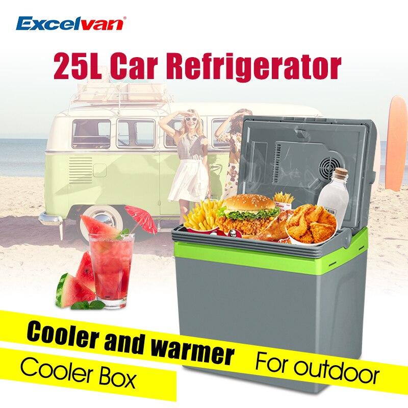 imágenes para 25L Car Home Nevera Portátil Termoeléctrico 12 V Nevera portátil Refrigerador Más Caliente Doble Propósito de Viaje de Alta Capacidad