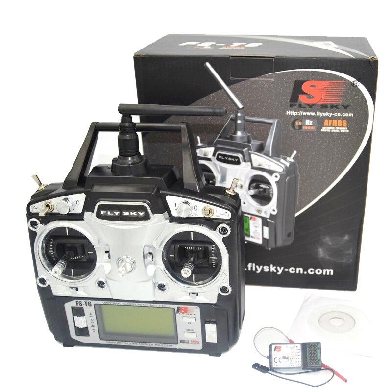 FlySky FS-T6 2,4 г 6CH TX RX FS-R6B RC радио управление приемник передатчик системы qav250 drone e com рецепторов