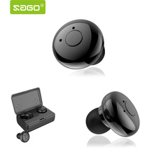 sago in-ear earhphone wireless bluetooth noise cancelling stereo Earbud portable with microphone and charge box for mobile phone