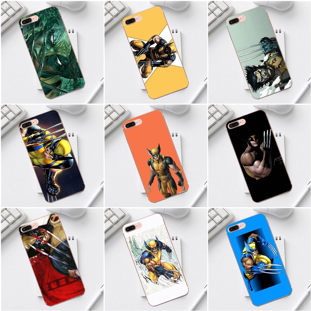 Qdowpz Wolverine Comics Soft Mobile Shell For iPhone 4 4S 5 5C SE 6 6S 7 8 Plus X XS Max XR Galaxy A3 A5 J1 J3 J5 J7 2017 image