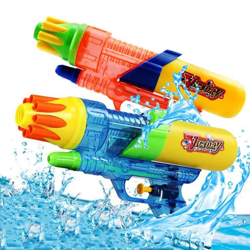 1PCS Children's Outdoor Game Water Spray Gun Double Nozzle Water Gun Children's Summer Beach Water Toys Double Nozzle Water Gun