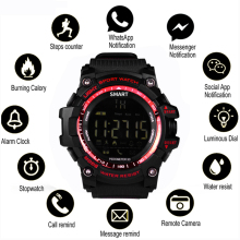 EX16 Sport Watch Notification Remote Control Bluetooth Smart Men IP67 50 Bar Waterproof Mens Wrist watch relogio masculino