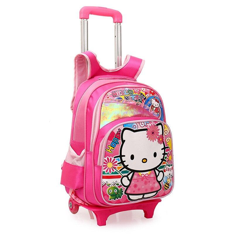 Детские рюкзаки на колесиках для девочек хелло китти рюкзак дитячий з ортопедичною спинкою