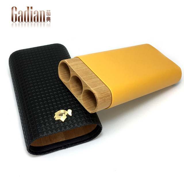 Portable cigar case humidor Leather Travel