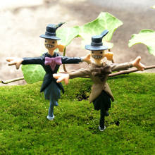 2pcs/lot Howl's Moving Castle Action Figure Scarecrow Micro Landscape DIY Ornament Hayao Miyazaki Anime Figure Toys for Children(China)