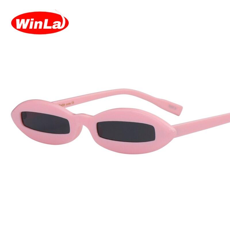 Winla Mode-Design Frauen Sonnenbrille Kleinen Ovalen Rahmen ...