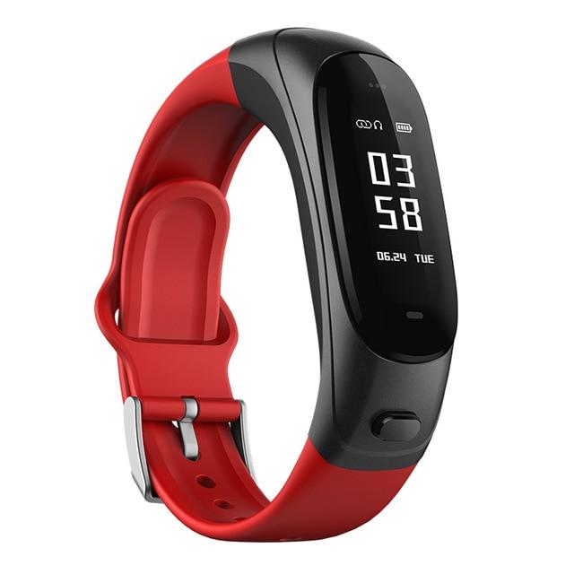 V08S banda inteligente pulseira Inteligente fone de ouvido à prova d' água sensor de pressão arterial Teste de Freqüência Cardíaca Para Android ios PK mi Sono Rastreador 2/3
