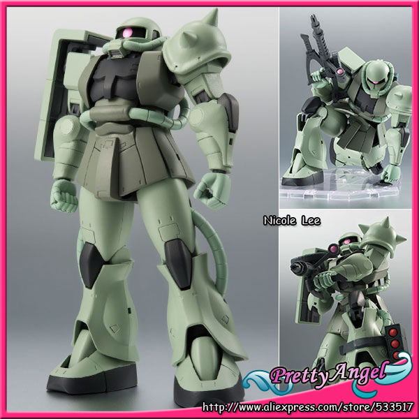 Original Bandai Robot Spirits NO.197 Mobile Suit Gundam Action Figure - SIDE MS- MS-06 Mass Production Zaku ver. A.N.I.M.E. mobile robot motion planning