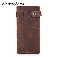 LS0099 Mans Card Holders Mens Wallets Leather Purses Genuine Leather Fashion Vintage Crazy Horse Leather Name