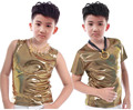 Gold Silver Shinny Polka Dot Top for Children Clothes Spring summer Kids Clothing Boys Girls Unisex Thin Vest