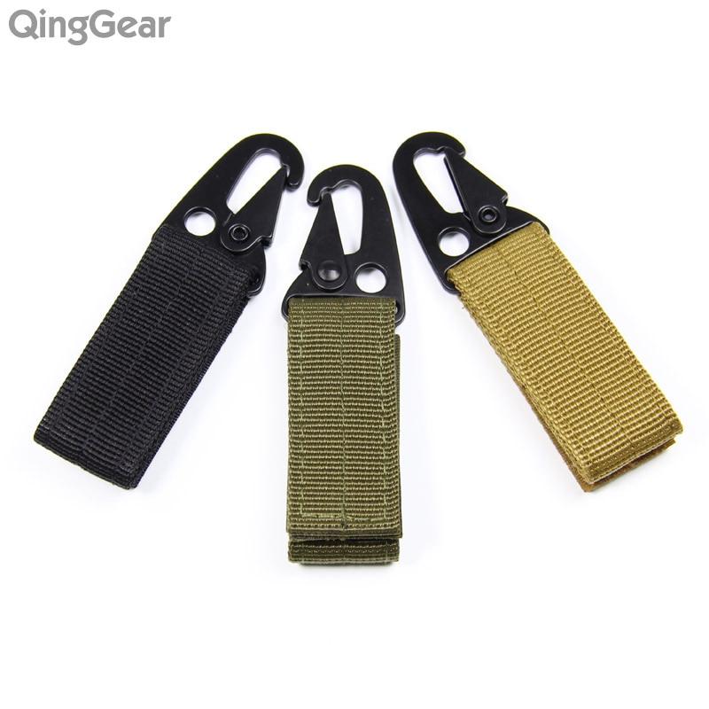 3PCS Șnur de nylon de breloc Cheie din inel tactil de metal Molle - Camping și drumeții