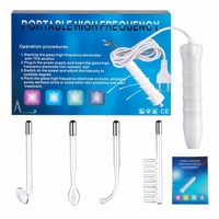 Portable High Frequency Electrode Glass Tube Electrotherapy Skin Tightening Facial Spa Salon Acne Remover darsonval Beauty