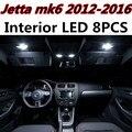 8 pcs X frete grátis Livre de Erros acessórios LED Interior Luz Kit Pacote para VW Jetta MK6 2012-2016