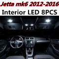 8pcs X free shipping Error Free LED Interior Light Kit Package for VW Jetta MK6 accessories 2012-2016