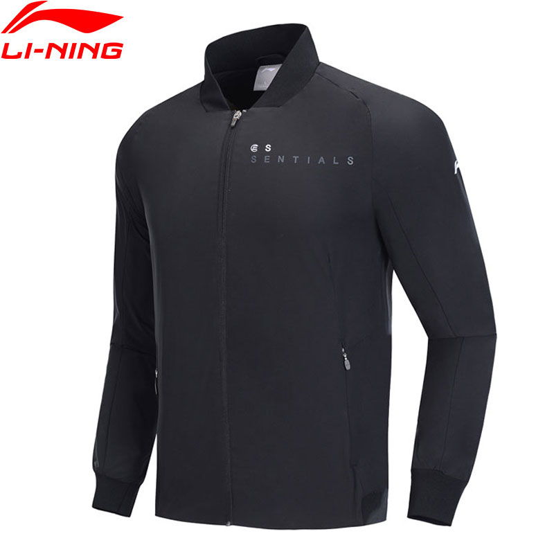Li Ning Men Training Series Jacket 3D Fitting Slim Fit 100 Polyester Pockets LiNing Sports Jackets