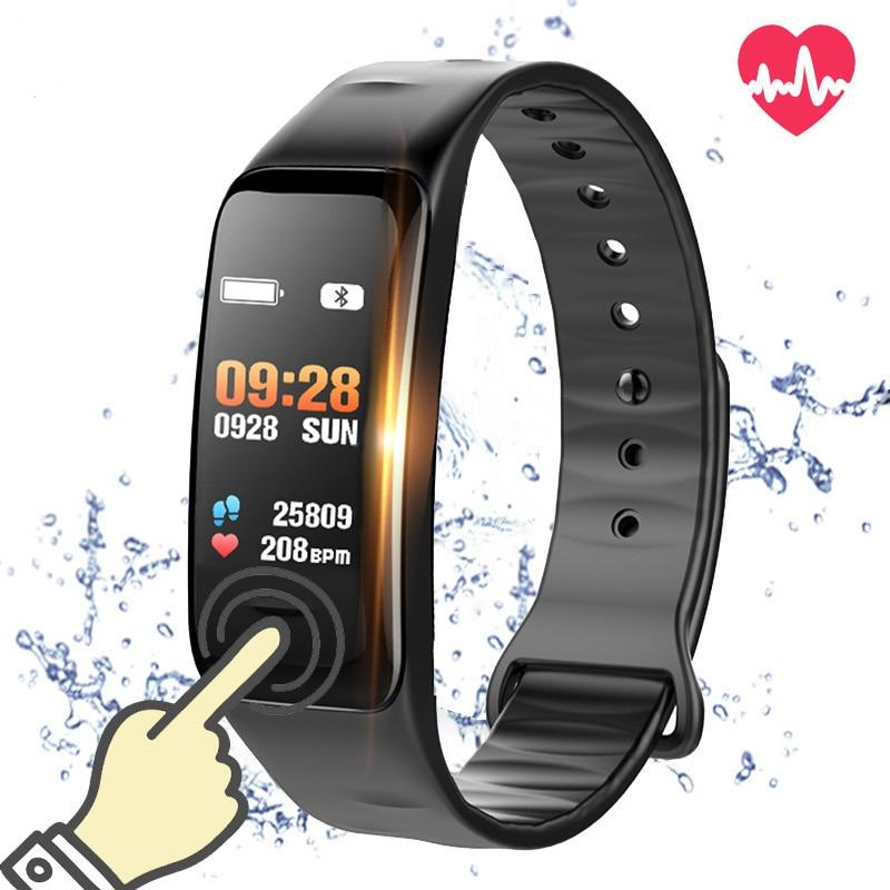 C1S Smart Wristbands Fitness Bracelet Blood Pressure Oxygen Heart Rate Activity Tracker Smart Band For xiomi mi a1 Vivo PK R5MAX