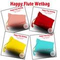 Happyflute pañal bolsa, wetbag con buklet