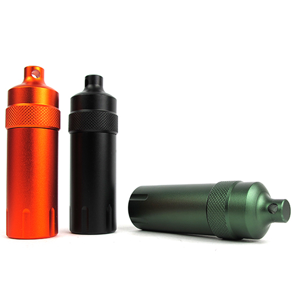 Hot Sale Outdoor EDC Survival Gear Waterproof Capsule Tool Seal Bottle Case Container Hol