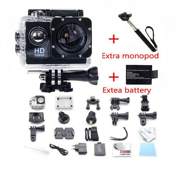 Free Shipping H8R WIFI Action Camera 360 font b VR b font Video Record 16MP 30FPS