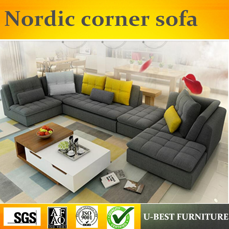 US $888.0 |U BEST Large sized apartment sofa corner detachable three suite  living room sofa ,Reception area waiting sofa-in Living Room Sofas from ...