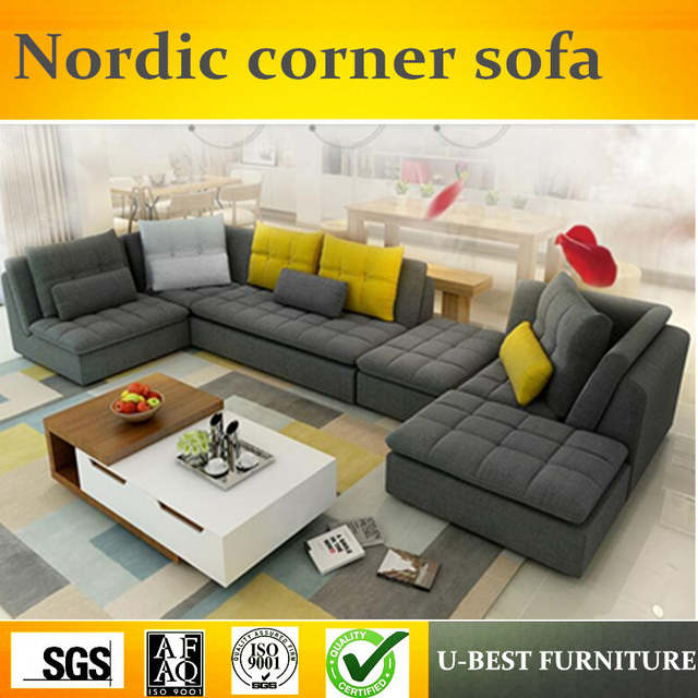 Online Shop U-BEST Large-sized apartment sofa corner detachable ...