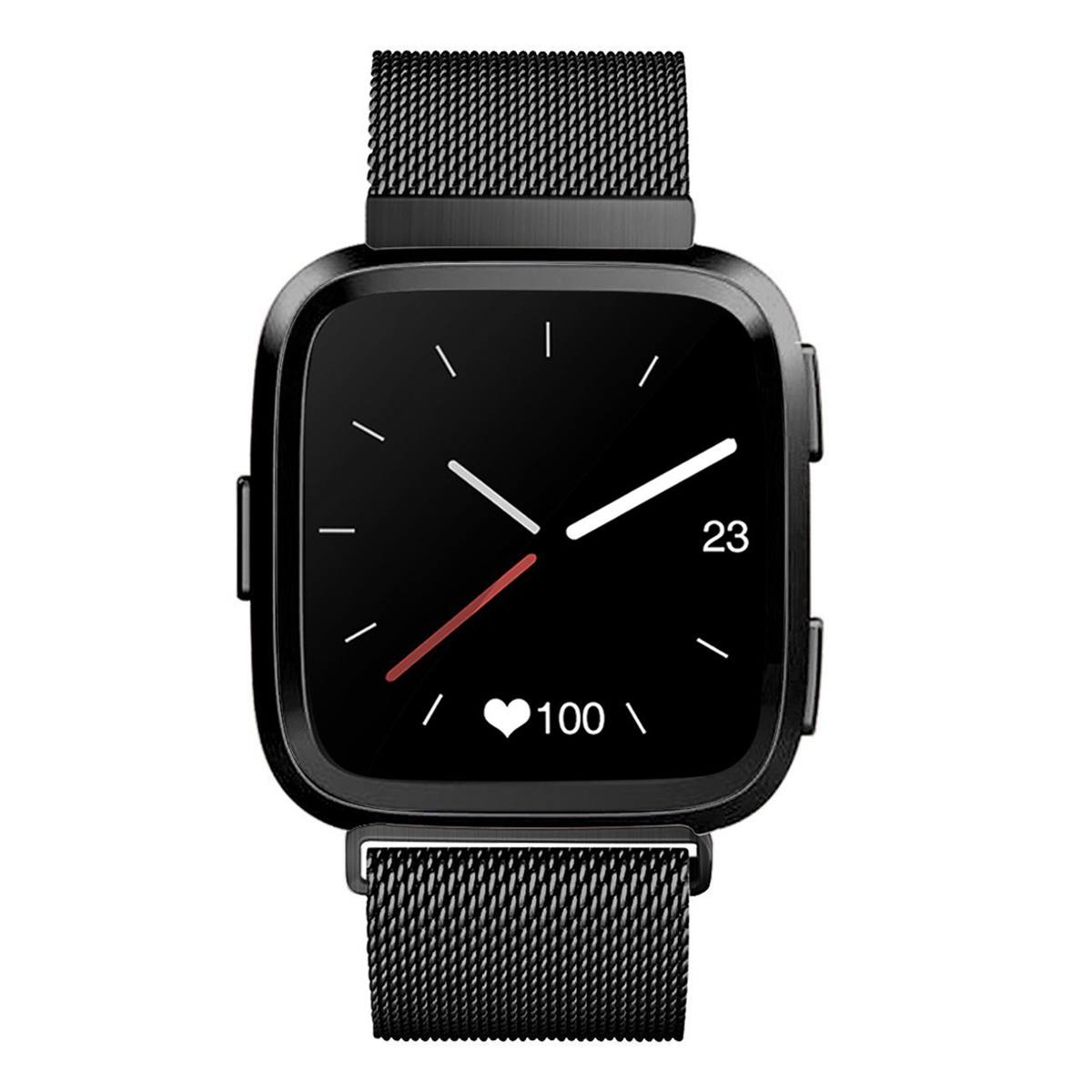 Milan magnetic ring stainless steel strap for Fitbit Versa