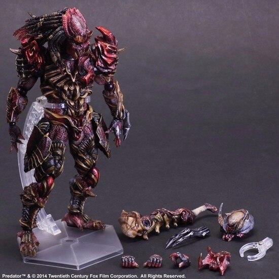 Predator Action Figure Playarts Kai Anime Toy Movie Alien Hunter Play Arts Kai Predator 270mm Collection Model цена