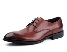 Fashion black /Brown tan derby shoes mens dress shoes genuine leather wedding shoes mens formal business shoes