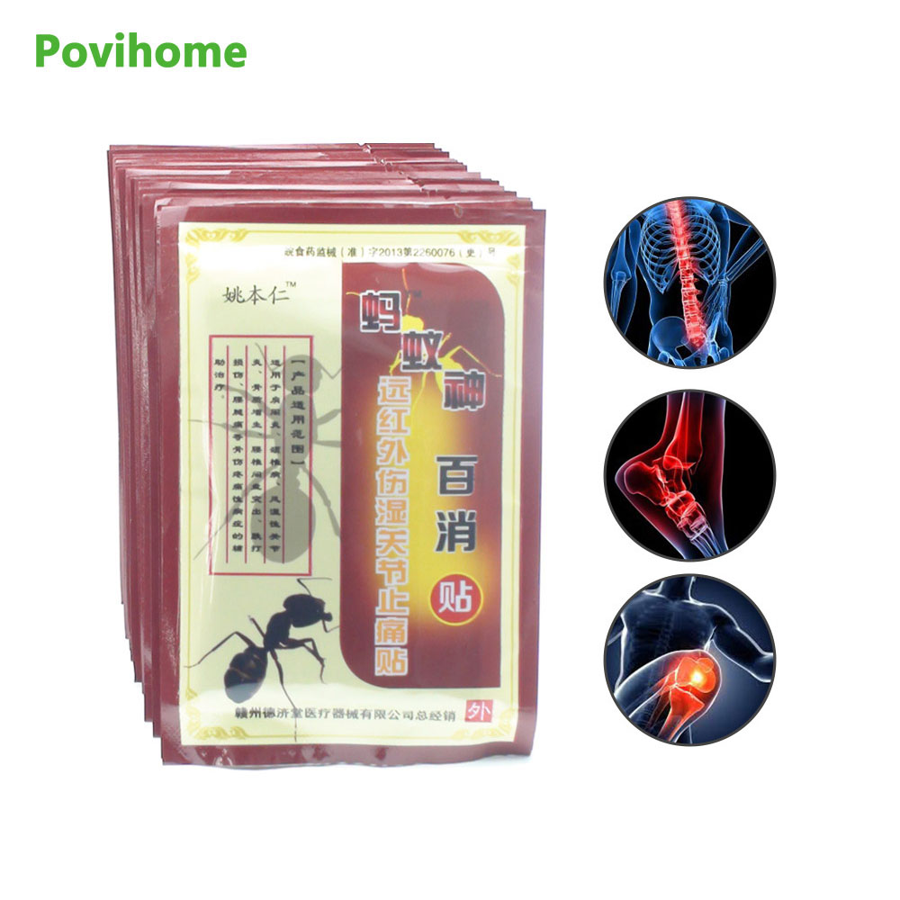Povihome 128Pcs/16Bags Pain relief orthopedic plasters medical Muscle aches pain relief patch muscular fatigue Arthritis C512
