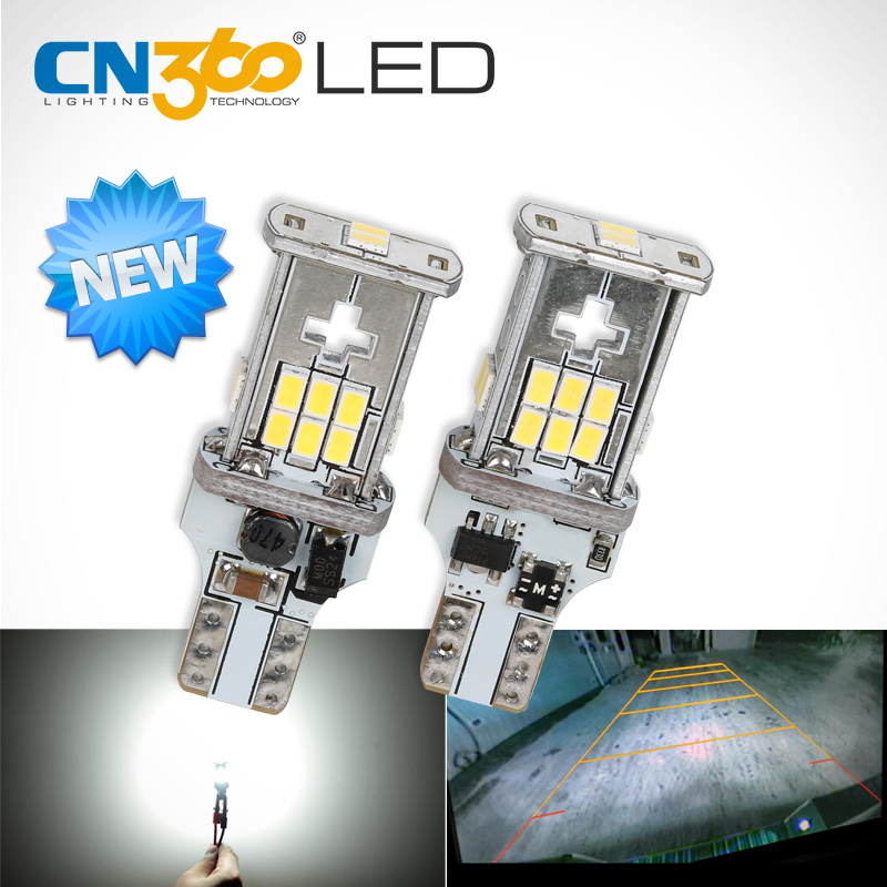 CN360 2 PCS Ny uppgradering extremt ljus High Power Canbus SMD3020 912 921 T15 W16W Bil LED Back-up Light Auto Reverse Lamp Lamp